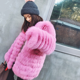 2018 Newest Stylish Natural Fox Fur Coat Wholesale Fashion Fur Coats Imported From China Over Coat Ladies