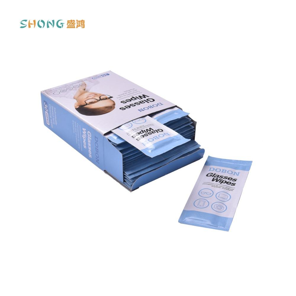 high quality 14*14 cm lens & glass cleaning wipes