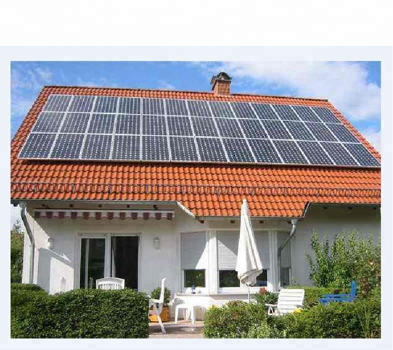 5kw 5000w on grid tied solar panel power energy systems home use manufacturer in china
