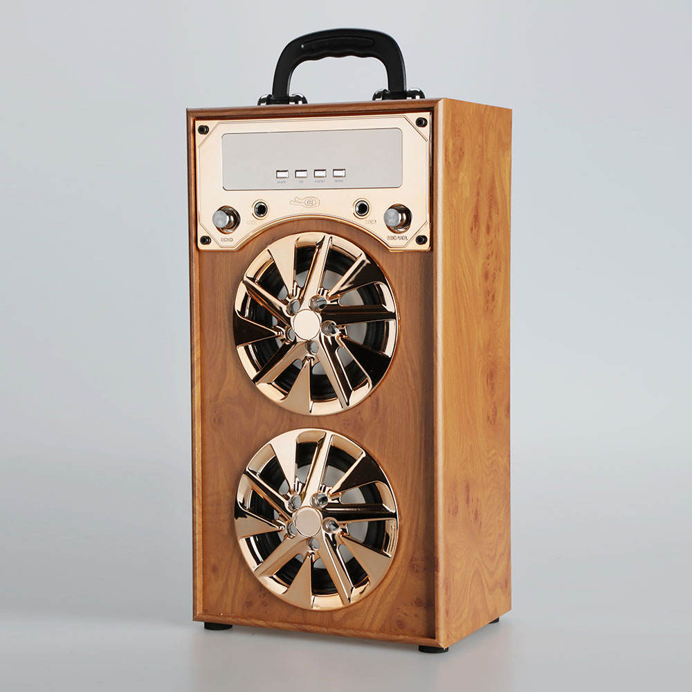 Holz Musik Drahtlose Tragbare Mini Bluetooth <span class=keywords><strong>Lautsprecher</strong></span> 4 zoll 8W 600mAh <span class=keywords><strong>cd</strong></span>-player ohne <span class=keywords><strong>lautsprecher</strong></span>