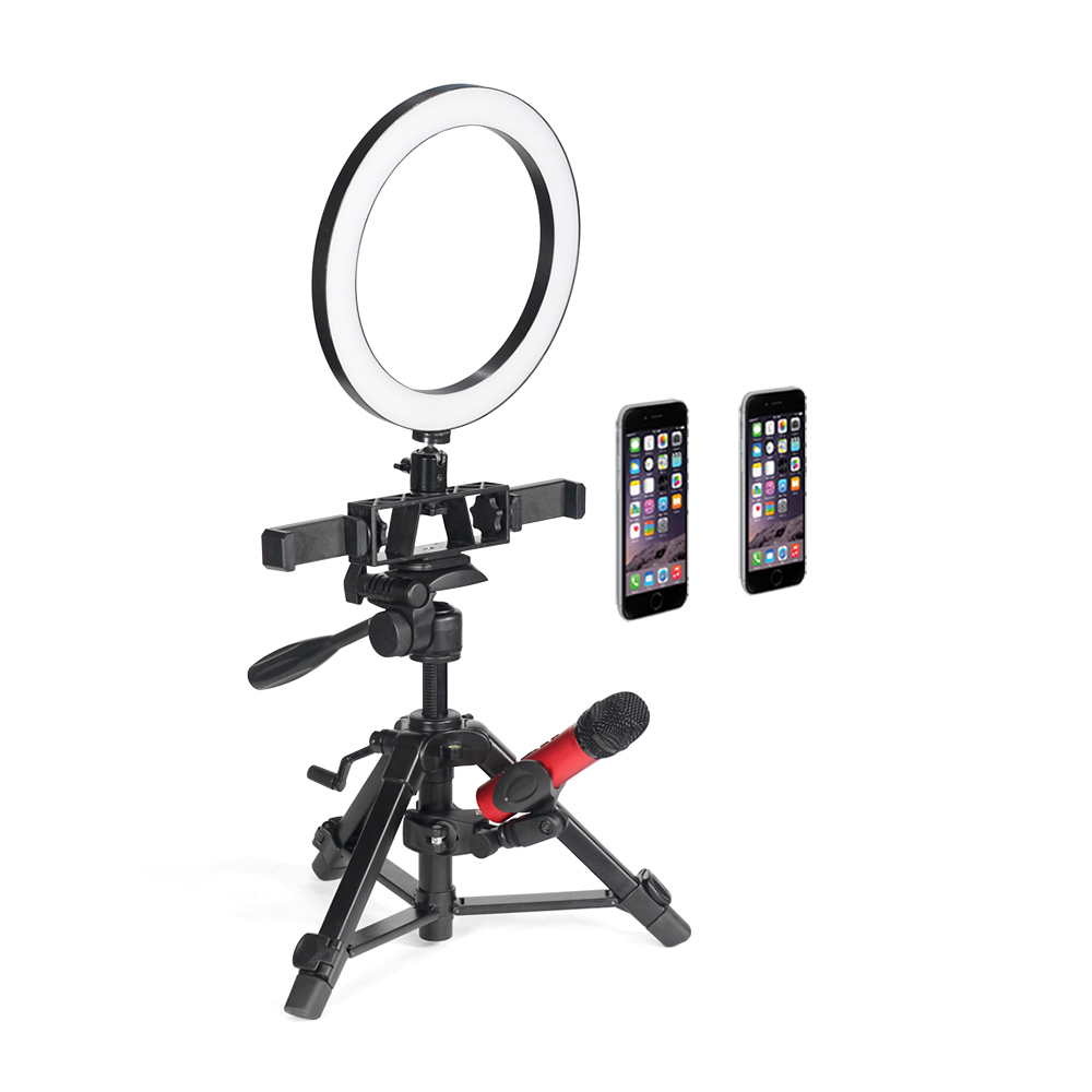 Multifunctional lightweight portable desktop tripod for vlog;Dimming 6-inch Ring Lamp;tripod for Smartphone