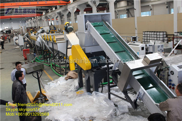 Good price Washing, dewatering and drying Film blowing machine line Plastic Recycling