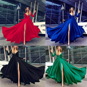 OEM Stock Evening dresses 2018 Long Sequin Dress Sexy Party Wear Gowns for Ladies