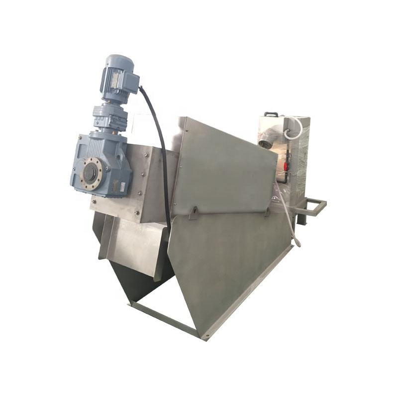 Environmental protection food waste dewatering sludge dehydrator unit