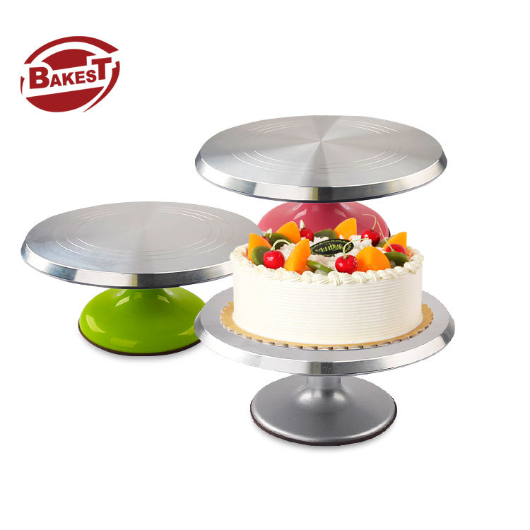 Bakest wholesaler aluminum alloy Rotating Cake Decoration Cake Turntable Player