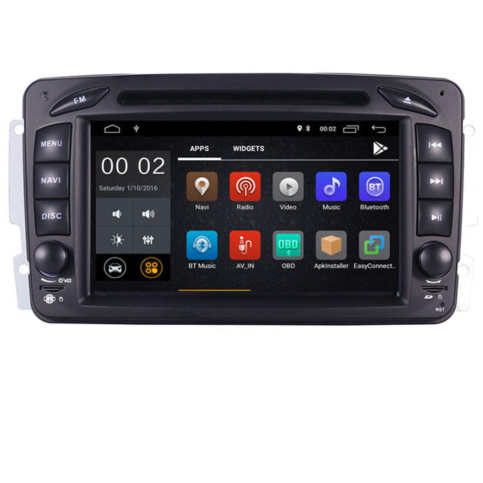 "Auf Lager 7 ""Android 10 Auto <span class=keywords><strong>DVD</strong></span>-Player Für Mercedes Benz CLK W209 W203 W463 W208 Wifi 3G GPS BT Radio Stereo Audio Media"