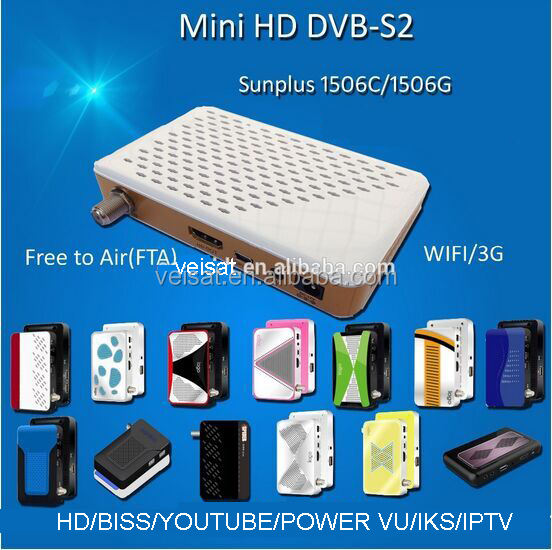 Sunplus 1506G wifi DVB-S2 con supporto iks Satellite MiNi HD Ricevitori