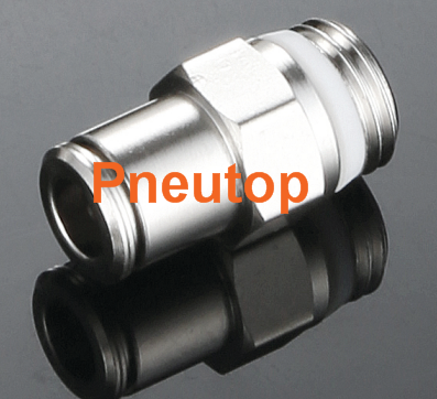 Brass material Union straight ,elbow type,Tee type Nickel plated Brass push in fitting metal Brass Push-In Fittings