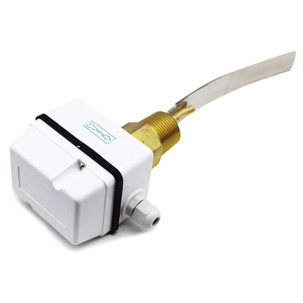Brass / stainless steel IP65 automatic digital flow switch 1 inch 1/2 inch Electric paddle Water Flow control Switch for fcu