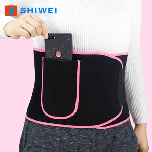 Shwei--5010-1# Colorful Waist support Trainer Slimming belt with phone pocket