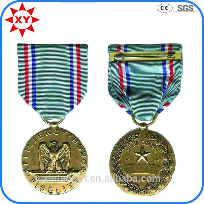 Oro materiale medaglia di metallo con aquila di commercio in cina.