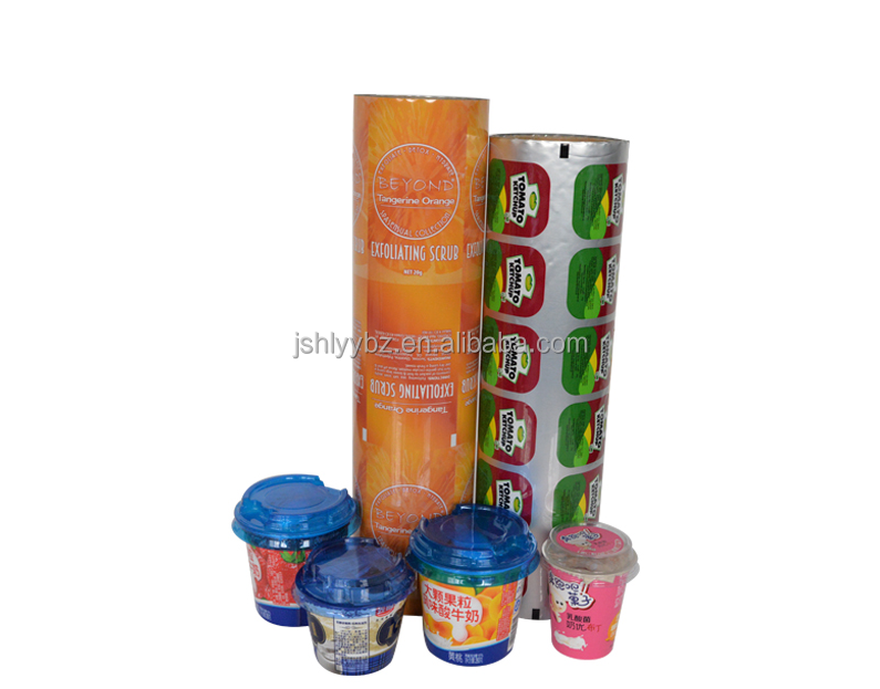 Food grade aluminum foil container lid peelable lidding pp plastic cup sealing film in roll