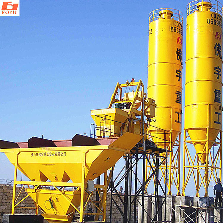 Graphic Customization Batch Plant Price HZS50 High Performance Concrete Batching Plants Fixed Ready Mixed Cement Mixer Aggregate Concrete Mixing Plant