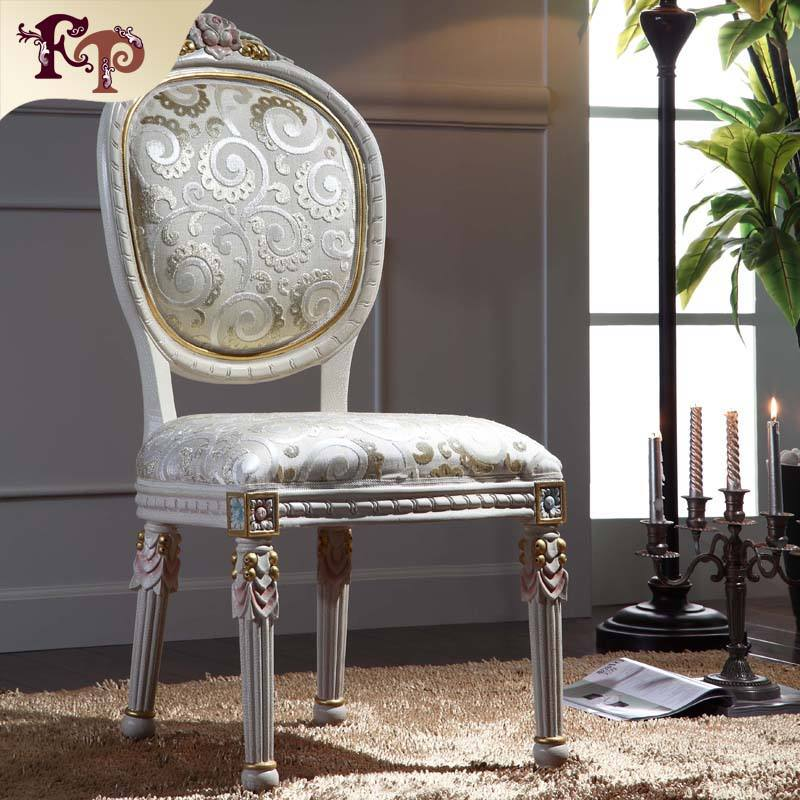 italian style furniture -classic luxury dining room furniture-French provincial dining chair
