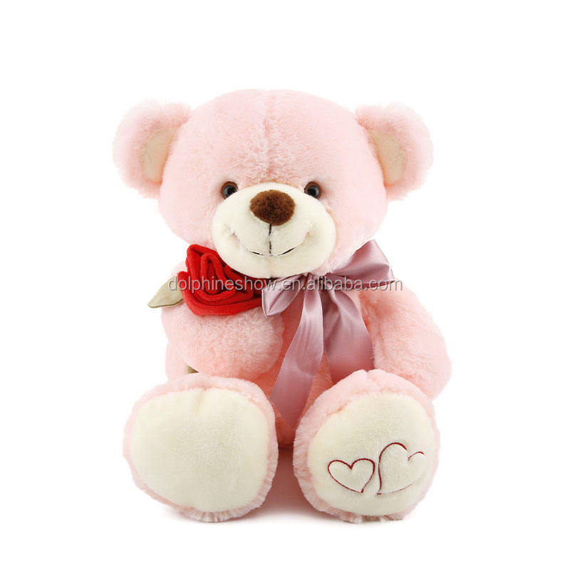 Yiwu Manufacture Cheap Giant Teddy Bear With Rose Flower Plush Stuffed Toys