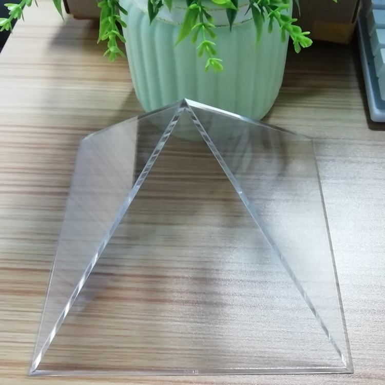 Clear Acrylic Food Pyramid Display Acrylic Pyramid with Flower of Life base for sale