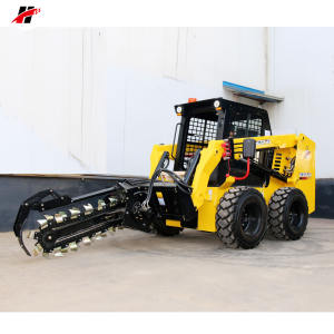 Skid steer loader mini loader excavator ยางมะตอย trencher