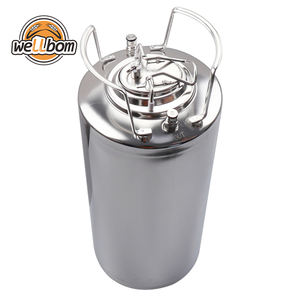 5 gallon 19L New Stainless steel Ball Lock Cornelius Style Beer OB Keg With Metal Handles