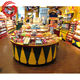 Wholesale candy store equipment wooden used candy display racks