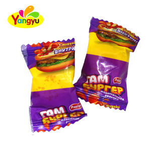 hambugar shape bubble gum chewing gum fruit flavor cachou arabic chutty
