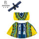 2019 African Print Fashion Dashiki Beach Kids Dress Summer Two Pieces Sets Children Clothing Wholesale
