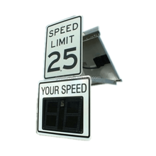 US Custom wholesale Camara LED road work curve warning safety traffic sign solar radar speed limited road signs
