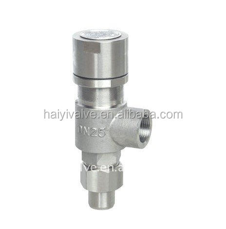 Air pressure relief valve NPT connection type