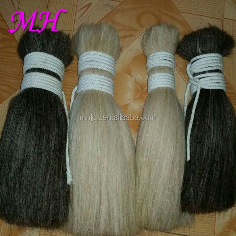 High Quality Washed Goat Hair Bulk for Making wigs and Hair Extension