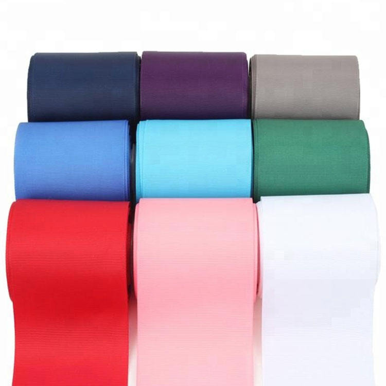 Wholesale Factory High Quality196 kind of Solid Color Grosgrain Ribbon 3""