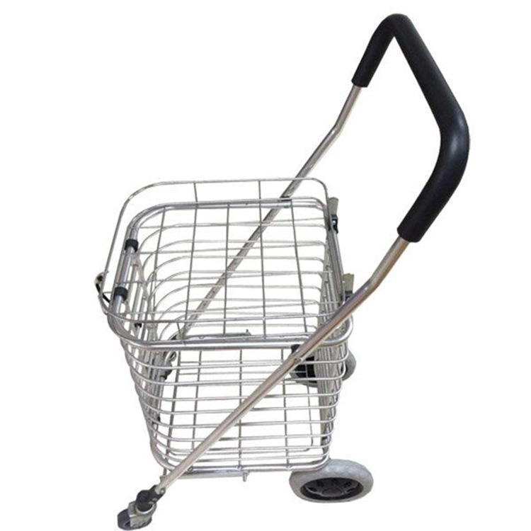 Aluminium climbing stair wheel shopping cart for elderly