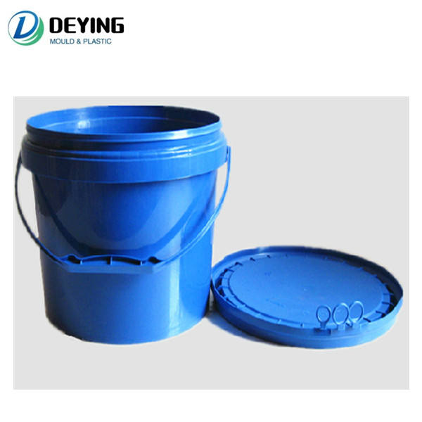 19L plastic building glue bucket/barrel injection mould