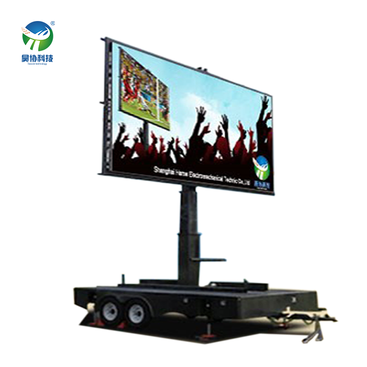 China Mobile lights giant mobile billboard screen p8 led trailer