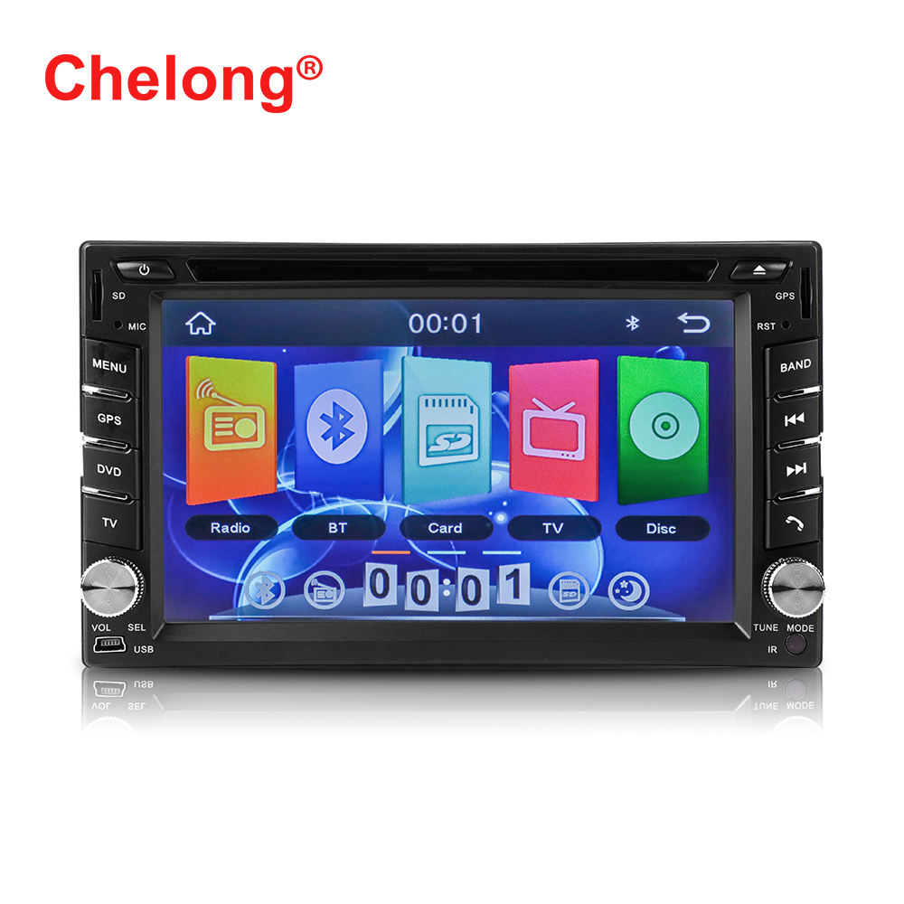 2DIN car stereo mp5 player 6.2 inch touch screen support GPS+DVD+CD+TV+Disk audio radio universal