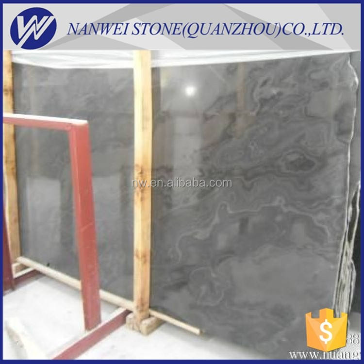Popular black color marble onyx stone price Floor and Tiles Brand Name slabs paving black wood grain Marble Natural Stone Tiles