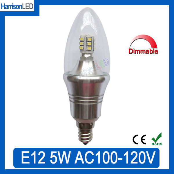 shenzhen Wholesale 5W SMD candelabra LED E12