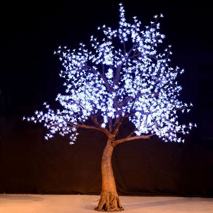 2.8m super quality outdoor artificial christmas light RGB color changing led cherry tree