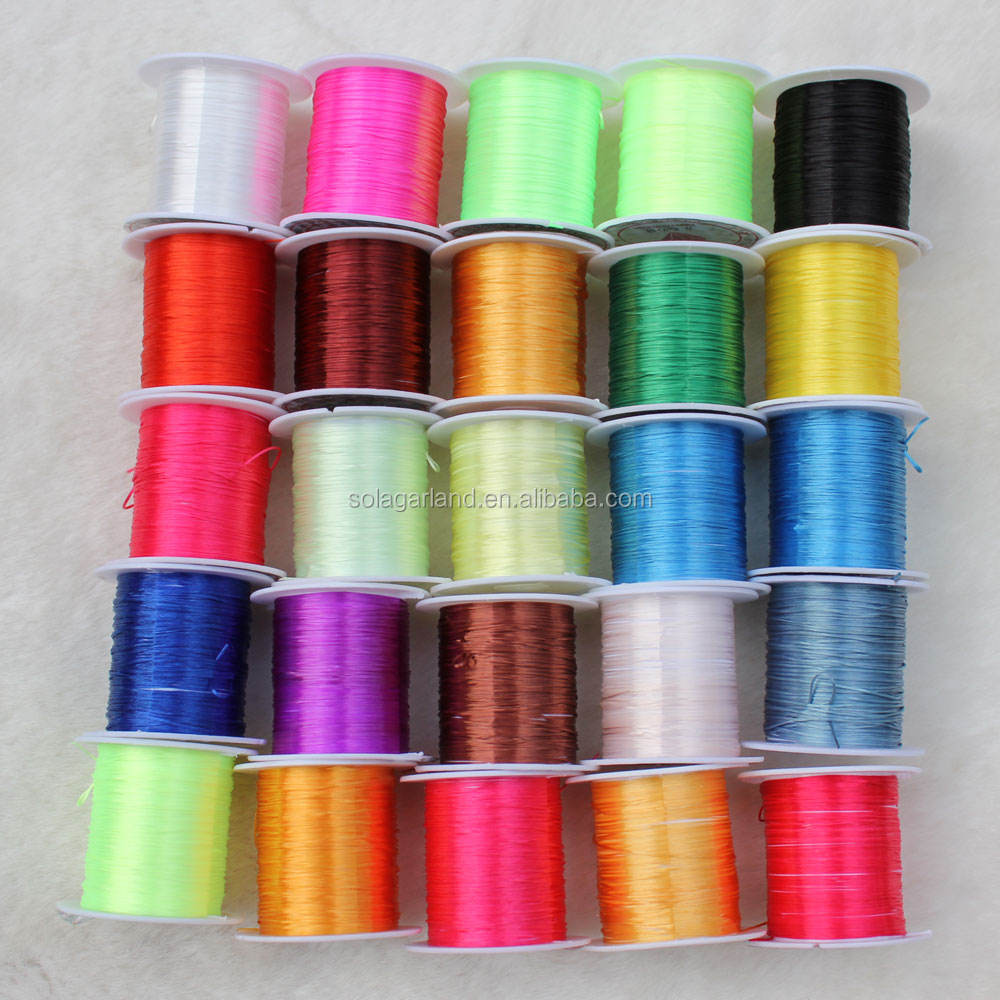 Flat Elastic Stretch Polyester Crystal String Cord for Jewelry Making Bracelet Beading Thread 10m/roll