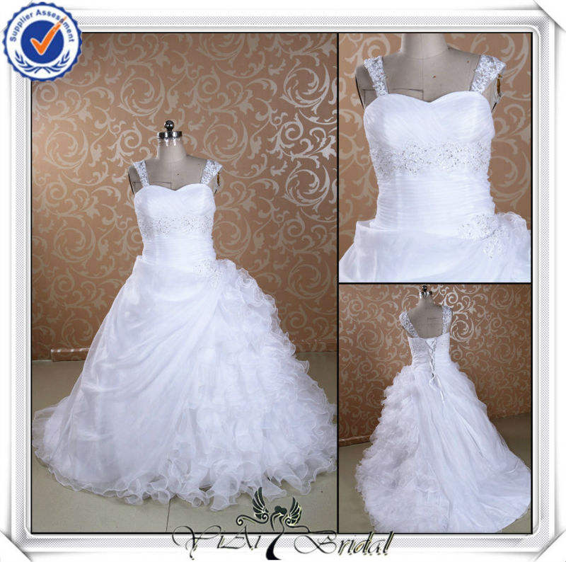 Jj0088 organza, corsage de dentelle robe de bal robes de mariée taille plus 2013