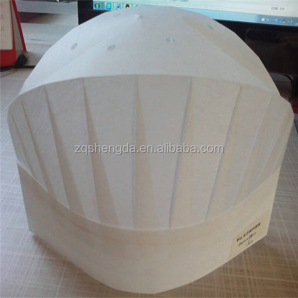 Wholesale Disposable Paper/Non woven Chef Hats for Cooking