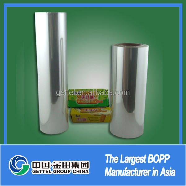 Hot selling heat sealable transparent coex bopp heatsealing film wide usage High clarity transparency