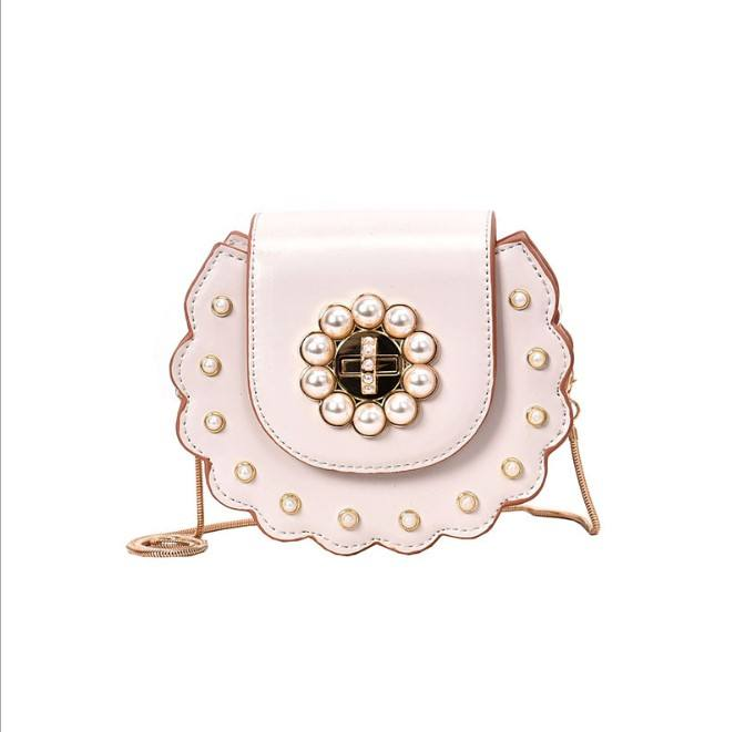 New mother-daughter pearl round sister bag school handbags for weomen2019