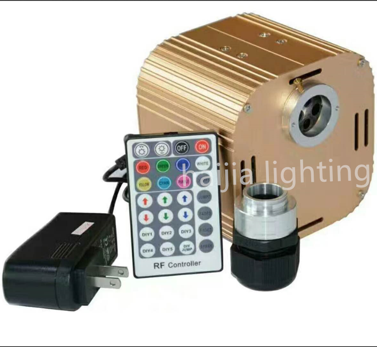 controllable speed twinkle led optical fiber light illuminator