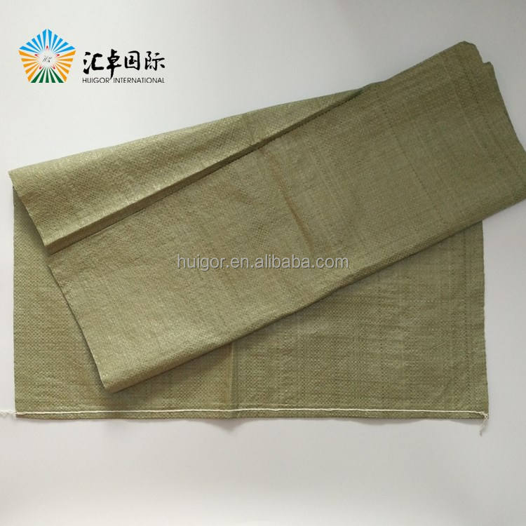 Green pp bag recycled material good price for sale
