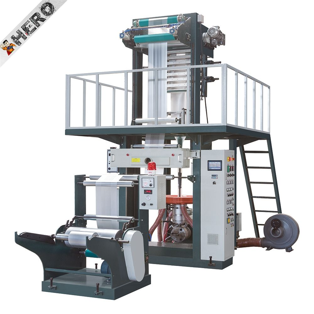 pvc cling film extruder machine two-color mulch film blowing machine