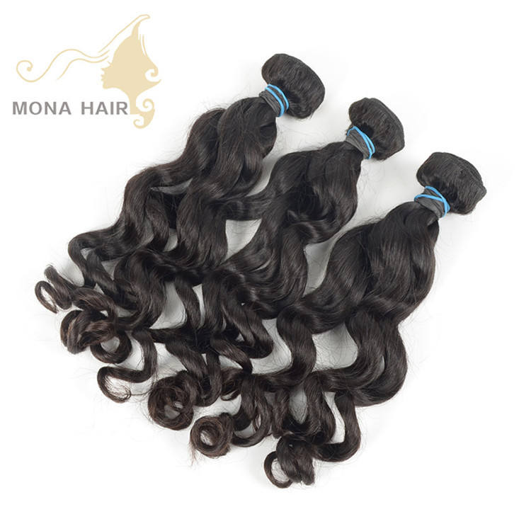 Wholesale 100% raw unprocessed hair bundles Cambodian loose wave cuticle aligned virgin hair