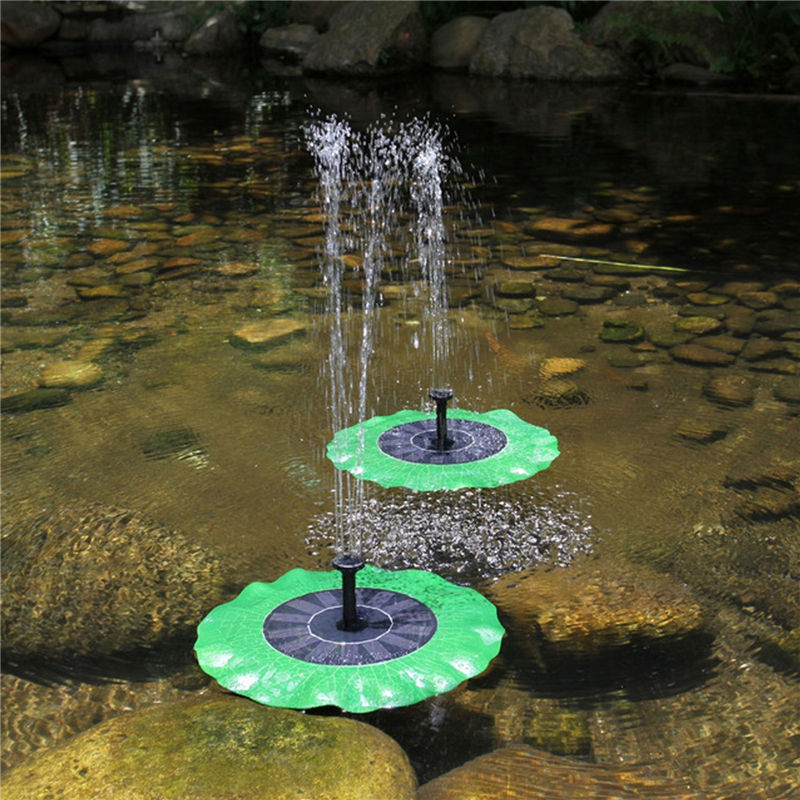 Lotus Leaf Floating Solar Fountain Pond Pump Waterscape Fountain Small Practical Outdoor Mini Garden Fountain