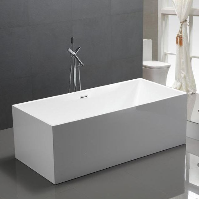 Aifol 60 Inch Modern Acrylic Used Adult Square Soaker Bathtub