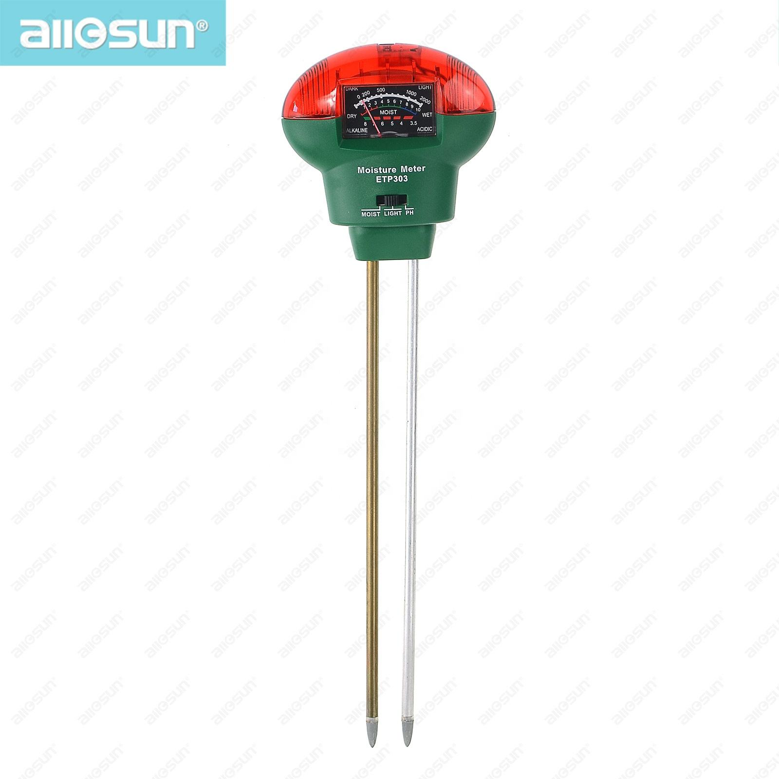 Analog 3-in-1 Moisture Meter Garden Tools with Light Soil Analog PH Meter Test Function Farming All Sun ETP303