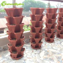 Hydroponic plant pots systems greenhouse stacked plant pots