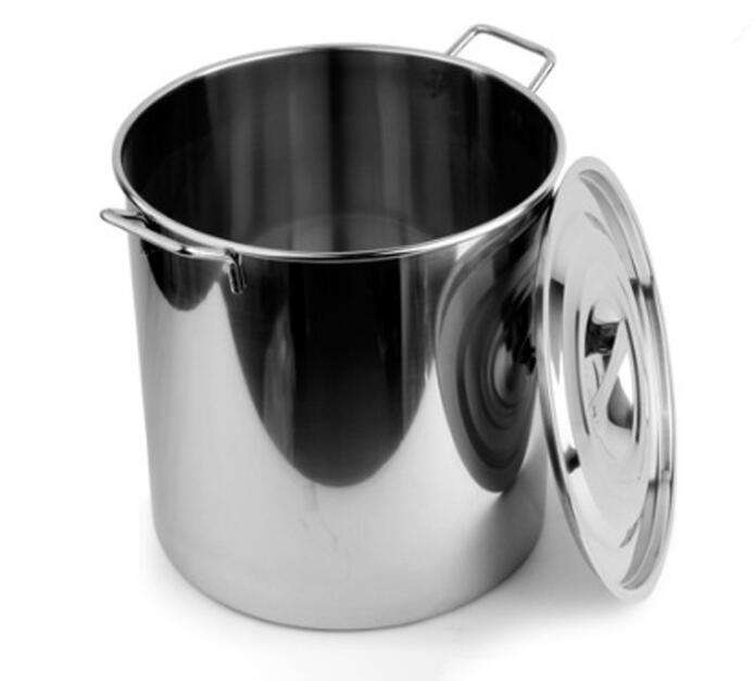 1.2mm Thick non-magnetic stainless steel stockpot/big size cooking pot